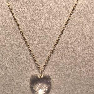 Solid 14k heart pendant